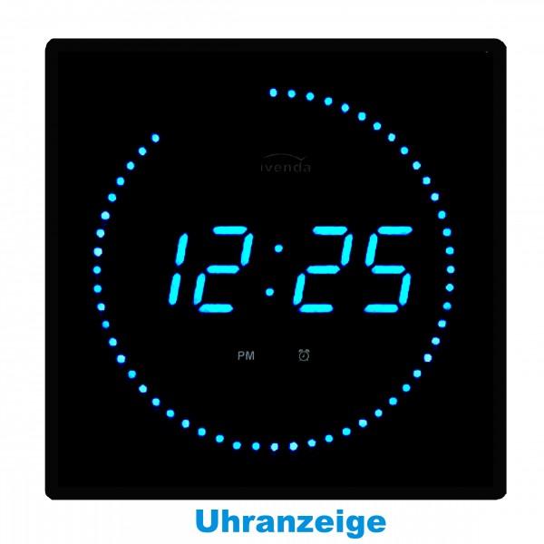 Digitaluhr digital wanduhr wohnzimmer iven blau leds bp for Wohnzimmeruhr digital